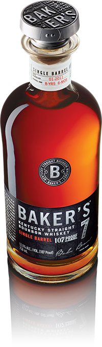 Bottle of Baker's Bourbon
